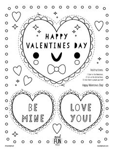 Free Printable Valentines Coloring Page