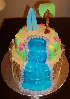 Hawaiian Luau Cake By kiddocakes on CakeCentral.com