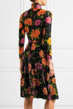 Balenciaga - Ice Skater Embellished Floral-print Spandex Dress - Black - FR