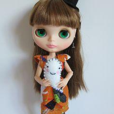 Ghost Plushy for Middie & Neo Blythe Dolls Halloween Felt Miniature