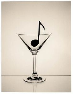 Dry Martini with one music note - http://www.pinterest.com/TheHitman14/music-symbols-%2B/