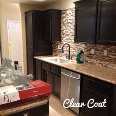 Staining Kitchen Cabinets (DIY Kitchen Makeover Part I)