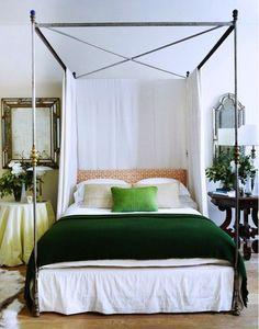 Brighten up your room with green accents.