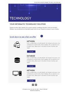 Comunica todo lo que quieras a través de las plantillas de emailing de Mailify para servicios informáticos.