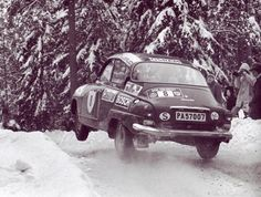 Stig Blomqvist in the Saab 96 v4 at Rally Sweden 1973 WRC     WRC Rally School @ http://www.globalracingschools.com