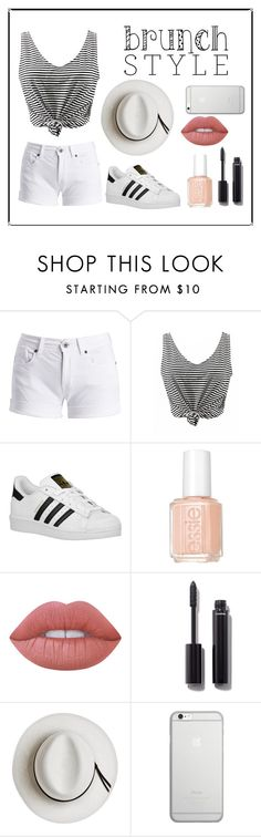 """""""Untitled #67"""" by ahu-ceren-turker ❤ liked on Polyvore featuring Barbour International, adidas Originals, Essie, Lime Crime, Chanel, Calypso Private Label, Native Union and MothersDayBrunch"""