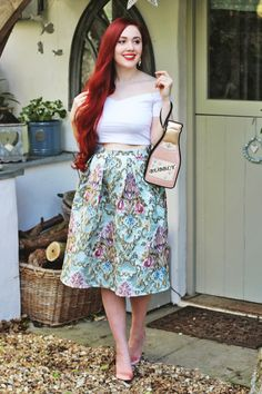 cute clutch in a fairytale inspired outfit