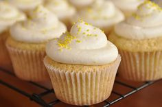 Lemon Curd Cupcakes with Lemon Cream Cheese Frosting - yum!