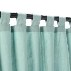Sunbrella Outdoor Curtain with Tabs - Mist by Sunbrella