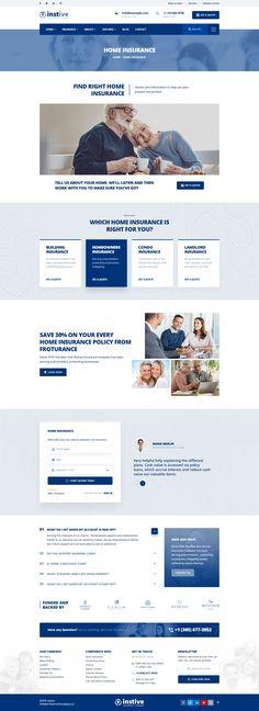 Condo Insurance, Landlord Insurance, Insurance Business, Insurance Agency, Insurance Website, Mailer Design, Simple Web Design, Web Design Inspiration, Being A Landlord