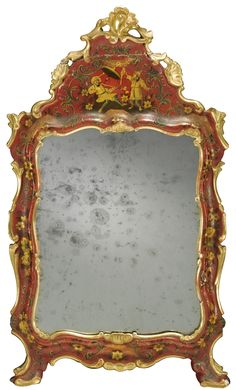 An Italian painted and lacquered mirror, Venetian<br><P>circa 1760 </P> | lot | Sotheby's