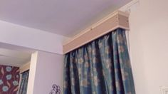Handmade curtain rail cover