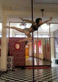 Flying without wings! Pole dance.