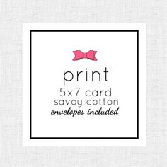 Printing 5x7 Card (savoy cotton) with savoy cotton envelopes