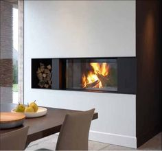 Metalfire Ultime C liftdeurhaard hoek - Product in beeld - - Startpagina voor sfeerverwarmnings ideeën | UW-haard.nl