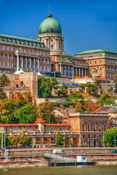 Budapest, Hungary has relaxing bath places (like swimming pools), and a lot of history and beauty like this lovely castle. Plus, the city is on the water! Europe Travel Share and enjoy! Places Around The World, The Places Youll Go, Travel Around The World, Places To Visit, Around The Worlds, Saint Marin, Capital Of Hungary, Hungary Travel, Royal Palace