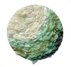 Sea glass sculptures by Jonathan Fuller reflect the relaxing qualities of the #ocean. #sculpture #art