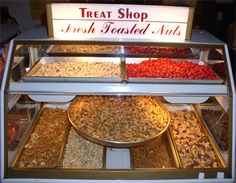 I remember this fresh toasted nuts display at my local department store growing up.
