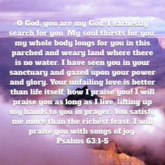 Psalms O God, you are my God; My soul thirsts for you; my whole body longs for you in this parched and weary land where there is no water. Niv Bible, Longing For You, New Living Translation, Psalms, God, Dios, Allah, The Lord