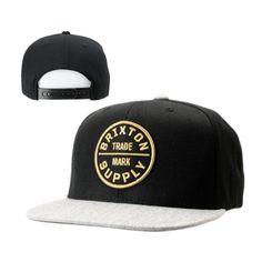 d2b717d6413 Brixton Oath Snapback Hats Black White