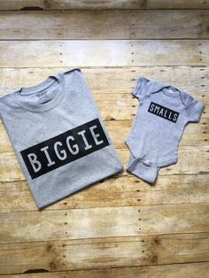 BIGGIE SMALLS Sibling Set Shirts, Matching Big Brother Sister Little Brother Sister shirts, Baby Coming Home outfit, Unique Baby Shower Gift Idea Available in multiple colors and sizes from newborn to adult Big Brother Gifts, Big Brother Little Brother, Big Brother Shower, Big Brother Onesie, Baby Shower Shirts, Baby Shirts, Kids Shirts, Onesies, Biggie Smalls