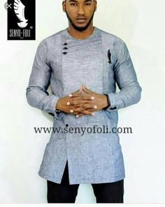 Gray Traditional African Men Clothing African Attire African   Etsy