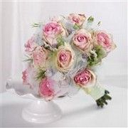 green and pink roses bridesmaid bouquet $225
