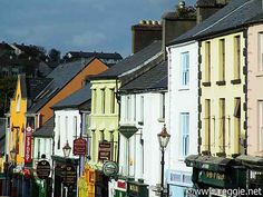 Colourful street, Westport, Co. Mayo. The Best 8 Cities in Ireland to Visit