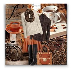 """""""fall brown color"""" by vicky-soleil ❤ liked on Polyvore featuring moda, West Elm, Joie, Burberry, Topshop, H&M, Dune i Wild & Wolf"""