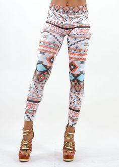 Tribal Print Leggings
