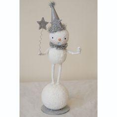 Vintage style Christmas folk art  snowman clown figure  £25.00