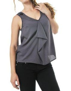 High-Low Oversized Blouse Ash. A great blouse to pair up with tailored pants or jeans. This blouse features a v-neck and high-low detail.. See More Blouses and Shirts at http://www.ourgreatshop.com/Blouses-Shirts-C78.aspx