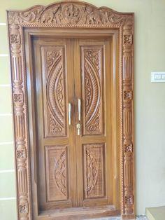Main Entrance Door Design, Wooden Front Door Design, Wood Front Doors, Home Door Design, Pooja Room Door Design, Door Design Interior, Single Door Design, Double Door Design, Door Design Images
