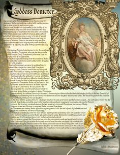 ✨Free Book of Shadows Pages from www.lapuliabookof...  Goddess_Demeter.jpg 1,275×1,650 pixels