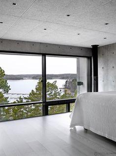 betonitalo-photo-krista-keltanen-09 Interior And Exterior, Interior Design, Modern Rustic, Beautiful Homes, Minimalism, Villa, Home And Garden, Windows, Contemporary