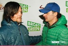 Norman Reedus and Andrew Lincoln attend Cast Of 'The Walking Dead' Attends Sundance Film Festival - 2015 Park City on January 25, 2015 in Park City, Utah.  (Photo by Michael Bezjian/Getty Images)