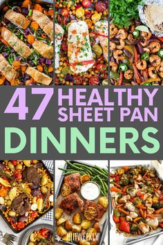 If you like to eat healthily and hate cleaning up then you will love these healthy sheet pan dinner recipes we have found for you. Try these one-pan dinner recipes today to up your healthy eating game. Healthy Eating Games, Healthy Recipes For Weight Loss, Healthy Dinners, Clean Eating Recipes, Healthy Dinner Recipes, Healthy Weight, Lunch Recipes, Honey Balsamic Chicken, Pan Pork Chops