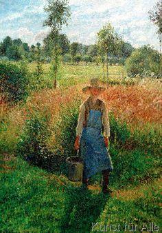Camille Pissarro - Der Gärtner, Nachmittagsonne, Eragny