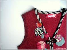 Bordado chaleco vintage-rediseñado espléndido en por AlexandraFamer