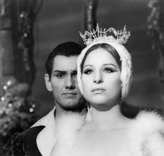 """Barbra Streisand in """"Funny Girl""""1968 Columbia** B.D.M. Black and White, Tiara, Crown, Makeup, Make Up, Fuzzy, Collar mptv_2017_Jan_to_April_Update"""