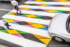 Seeing opportunity just under his feet, artist Christo Guelov wondered how a mundane street crossing could be turned into a thing of beauty. Like the design of a chair or the face of a watch, it turns out the possibilities are probably endless. The Bulgarian artist transformed dozens of pedestri