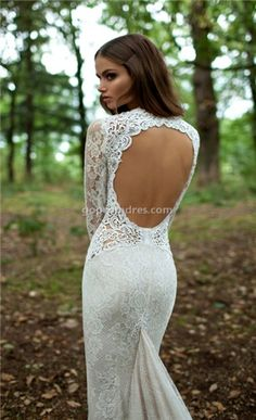 wedding dress wedding dresses everything backless and lacy I love it!