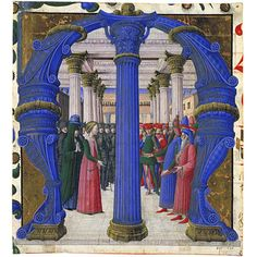 An historiated initial depicting St Giustina disputing with the Emperor Maximian. Cut out from a choir book illuminiated by Girolamo da Cremona,1462, from Lombardy. Victoria & Albert Museum, London. The V&A allows free use of its images for non-commercial purposes.