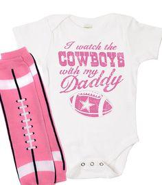 Football Onesie Set Dallas Cowboys Football NFL Onesie, Organic Onesie, Creeper, Bodysuit I would love this in navy blue and silver