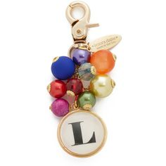 Lenora Dame Initial Bag Charm ($40) ❤ liked on Polyvore featuring jewelry, pendants, l, lobster clasp charms, initial charm pendant, letter charms, charm jewelry and initial charms