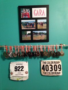 Idea for track medal and number display