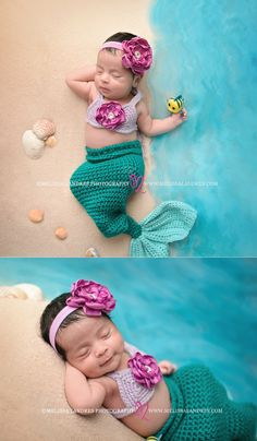 Mommy's little Mermaid! The cutest little baby mermaid ever! Newborn photos cutest props, Coachella Valley baby photographer Melissa Landres #littlemermaid #ariel #disneyprincess #partofyourworld #newbornphotos #babypictures