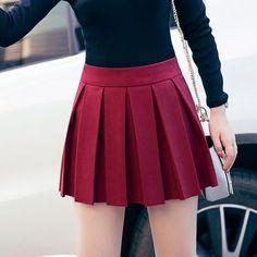 korean autumn pleated high waist pants skirt SD00308