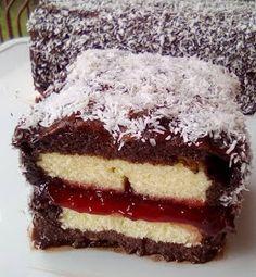 ΜΑΓΕΙΡΙΚΗ ΚΑΙ ΣΥΝΤΑΓΕΣ 2: Κέικ Λάμιγκτον (Lamingtons)!!! Cookbook Recipes, Cake Recipes, Cooking Recipes, Chocolate Sweets, Love Chocolate, Greek Sweets, Greek Recipes, Food Network Recipes, Bakery