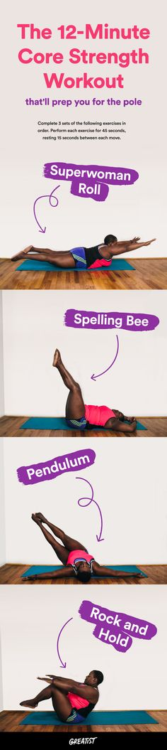 These moves are all about strength, not stripping.  #greatist http://greatist.com/move/pole-dancing-exercise-strength-moves-you-can-do-at-home